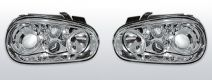 Koplampen Golf 4   R32-Look   Xenon look lens   chroom