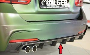 Rieger diffuser Carbon | BMW 3-Serie F30 / F31 M-pakket 2012- | dubbel sierstuk links