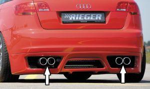 Rieger einddemper, links / rechts, zijdelings verschoven | Audi A3 8P 2004-2008 Sportback