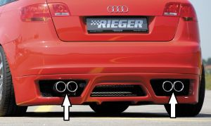 Rieger einddemper, Typ 16, A3 (8P) Sportback 1,6l 75/85kW | Audi A3 8P 2004-2008 Sportback