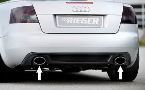 RIEGER einddemper, li./re., Typ 32, Audi A4 (8H) Cabrio | A4 (8H): 04.02- - Cabrio | stk  | Rieger Tuning