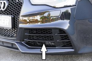 Luchtinlaat, links, speciaal aangepast | (glanzend zwart) Audi A5/A4 (B8), A3 (8V)