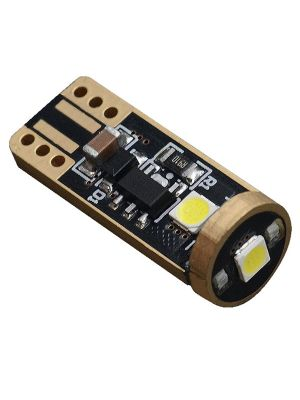 LED T10 W5W | 3-SMD Slim-Line Canbus Pro | Carnamics | (set van 2)