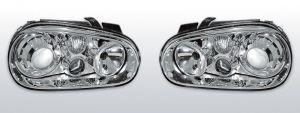 Koplampen Golf 4 | R32-Look | Xenon look lens | chroom