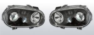 Koplampen Golf 4 | R32-Look | Xenon look lens | zwart