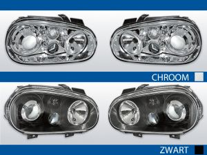 Koplampen Golf 4 | R32-Look | Xenon look lens