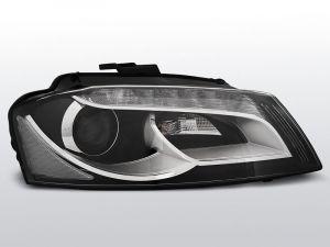 real led drl koplampen audi a3 8p zwart