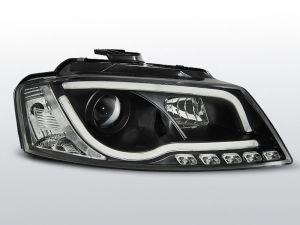 real led drl koplampen met tube light voor audi a3 8p in zwart