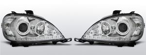 led drl koplampen mercedes w163 ml m-klasse chroom