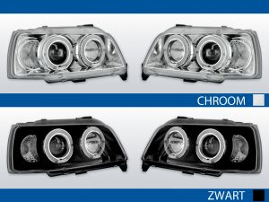 angel eye koplampen voor renault clio 1 in chroom of zwart