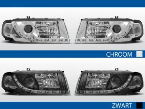 led drl koplampen voor skoda octavia I in chroom of zwart