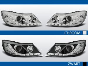 led drl koplampen voor skoda octavia II in chroom of zwart