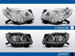tube light koplampen voor toyota land cruiser 150 in chroom of zwart