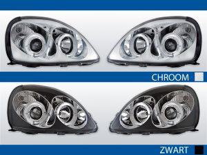 angel eye koplampen voor toyota yaris in chroom of zwart