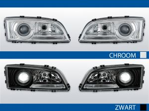 angel eye koplampen volvo s70/v70/c70 chroom zwart