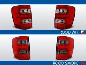 achterlichten crysler jeep grand cherokee wj rood/wit of rood/smoke