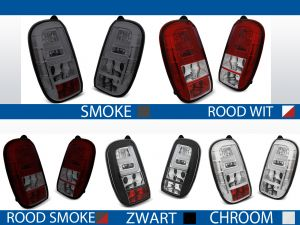 achterlichten dacia duster rood/wit, rood/smoke, chroom, smoke of zwart