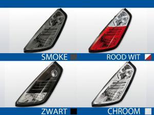 achterlichten fiat grande punto rood/wit, chroom, smoke of zwart