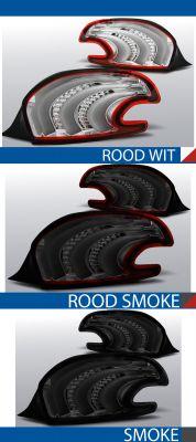 achterlichten peugeot 208 rood/wit, rood/smoke of smoke