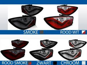 achterlichten seat ibiza 6j rood/wit, rood/smoke, smoke, chroom of zwart