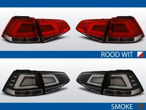 achterlichten volskwagen golf 7 rood/wit of smoke