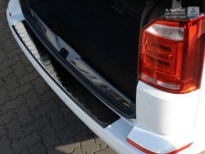 Volkswagen transporter T6 2015 achterbumperbescherming zwart rvs (een achterdeur)