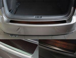VW Golf 7 5 deurs hatchback achterbumper beschermer rvs chroom of zwart met carbon inleg