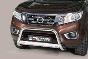 Pushbar | Nissan Navara NP300  King Cab 2016- | CE-keur | RVS