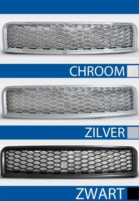 grillenset rs type audi a4 b6 abs kunststof chroom, zilver of zwart