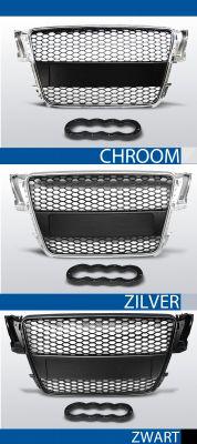 grille set audi a5 rs type abs kunststof chroom, zilver of zwart