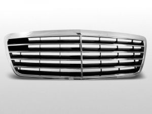 grille avantgarde type mercedes e-klasse w210 abs kunststof chroom