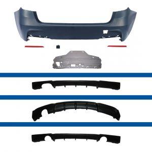 Achterbumper | BMW 3-serie Touring F31 2012- | voor M-Pakket MP | ABS Kunststof