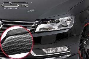 Koplampspoilers | VW  Passat B7 Limo / Variant vanaf 11/2010 | ABS Carbon Look
