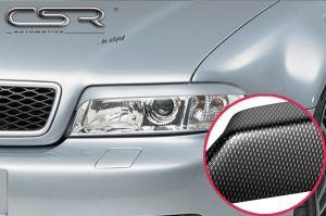 Koplampspoilers | Audi A4 B5 alle 1999-2001 | ABS Carbon Look