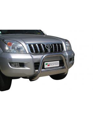 Pushbar | Toyota | Land Cruiser 02-10 3d suv. / Land Cruiser 02-10 5d suv. | KDJ 120 / 125 | met CE-Keur | RVS CE-keur