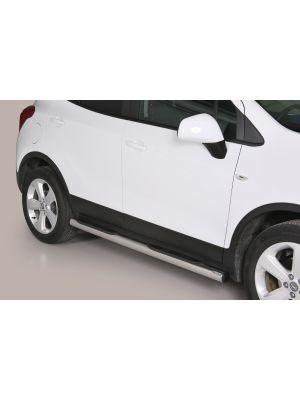 Side Bars | Opel | Mokka 12-16 5d suv. / Mokka X 16- 5d suv. | rvs zilver Grand Pedana RVS