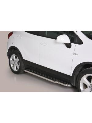 Side Bars | Opel | Mokka 12-16 5d suv. / Mokka X 16- 5d suv. | rvs zilver Pedana RVS
