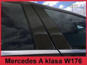 Sierlijsten B-Stijl | Mercedes-Benz | A-klasse 12-15 5d hat. W176 / A-klasse 15- 5d hat. | Carbon zwart