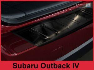 Achterbumperbeschermer | Subaru | Outback 09-13 5d sta. / Outback 13-15 5d sta. | RVS zwart
