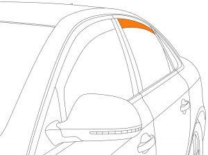 Zijwindschermen | Chrysler PT-Cruiser 2000-2010 | Climair | achterportieren | Smokegrey