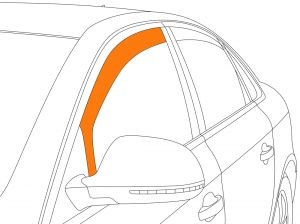Zijwindschermen | Rover 75 sedan 1999-2005 | Climair | voorportieren | Smokegrey