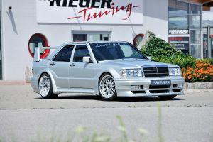 Spatbordverbreder | Mercedes 190-Serie 1982-1993 | stuk ongespoten gvk | Rieger Tuning