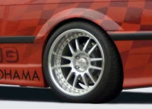 Spatbordverbreder | BMW 3-Serie Coupé / Cabrio E36 1991-1999 | achter | stuk ongespoten gvk | Rieger Tuning