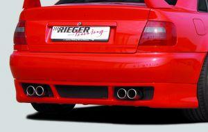Rieger achterskirt RS-Four-Look | A4 (B5): 11.94-98 - Avant, Lim. | stuk ongespoten abs | Rieger Tuning