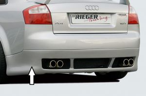 Rieger achteraanzetstuk | Audi A4 Sedan / Avant (8E) B6 2001-2004 | stuk ongespoten abs | Rieger Tuning
