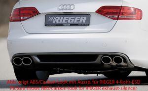 Diffuser | Audi A4 Sedan / Avant B8 2007-2011 | stuk abs | Rieger Tuning