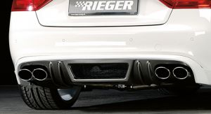 Rieger einddemper Audi S4/S5 (B8) A4/A5 3.0l TFSI 200 kW | A5 S5 (B8/B81): 06.07-07.11 (tot Facelift) - Coupé, Cabrio  A4 S4 (B8/B81): 11.08-12.11 (tot Facelift) - Lim., Avant | stuk rvs | Rieger Tuning