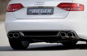 Rieger einddemper Audi A4 (B8), 4-cilinder ø 66mm verbinding | A4 (B8/B81): 11.07-12.11 (tot Facelift) - Lim., Avant | stuk rvs | Rieger Tuning
