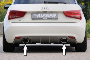 Rieger Einddemper, Links / Rechts, 1x140x90 Oval Type 32 | Audi A1 8X | RVS 1.2 / 1.4 TFSI / 1.6 TDI
