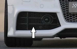 Luchtrooster voor auto's met afstandsradar | A5 (B8/B81): 06.07-07.11 (tot Facelift) - Coupé, Cabrio, Sportback  A5 S5 (B8/B81): 06.07-07.11 (tot Facelift) - Coupé, Cabrio, Sportback  A4 (B8/B81): 11.07-12.11 (tot Facelift), 01.12- (vanaf Facelift) -
